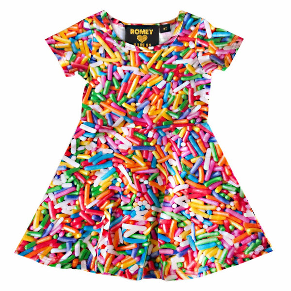 "ROMEY LOVES LULU - ""Rainbow Sprinkles"" Skater Dress"