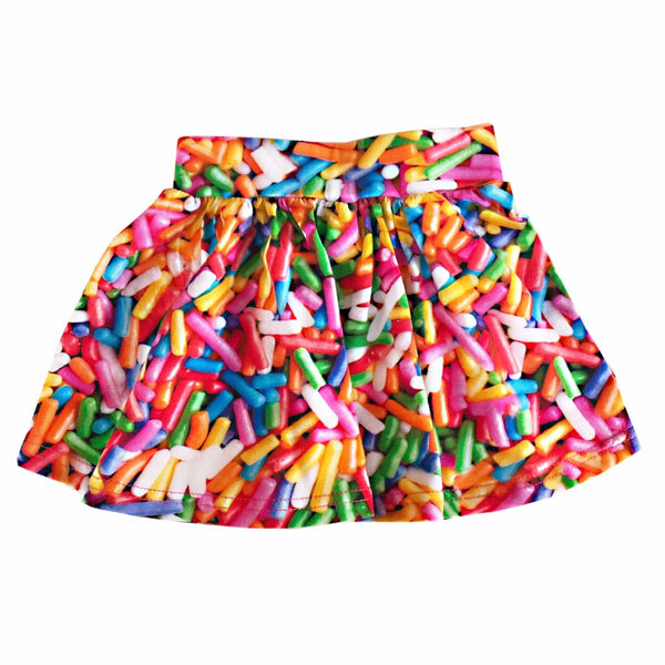 "ROMEY LOVES LULU - ""Rainbow Sprinkles"" Printed Skirt"