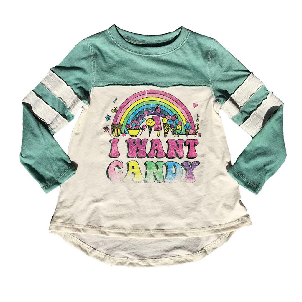 "ROWDY SPROUT - ""I Want Candy"" Dreamer Tee"