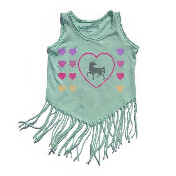 ROWDY SPROUT - Unicorn Love Hippie Shake Tank