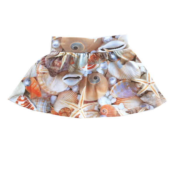 "ROMEY LOVES LULU - ""Seashells"" Printed Skirt"
