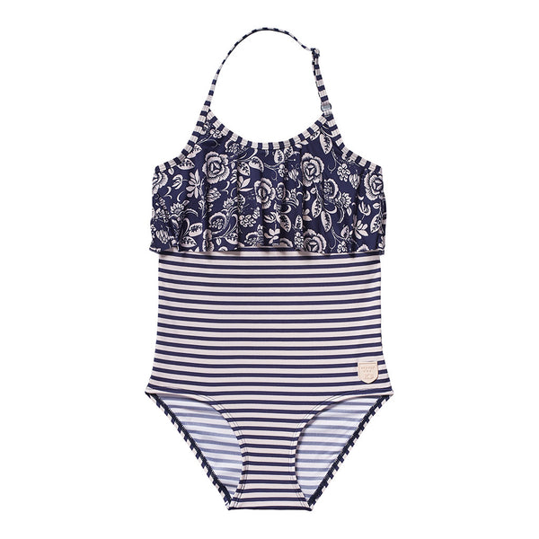 SCOTCH & SODA - Floral and Stripes Swimsuit