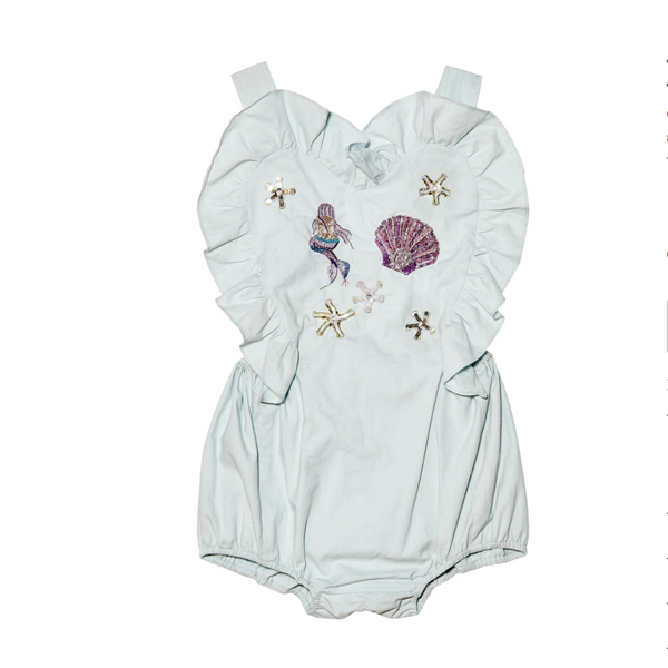 "TUTU DU MONDE - ""A LIFE AQUATIC"" - Mermaid Melody Romper"