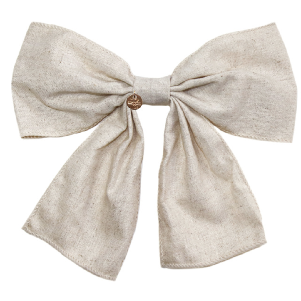 HALO LUXE - Ever After Bow Clip in Linen