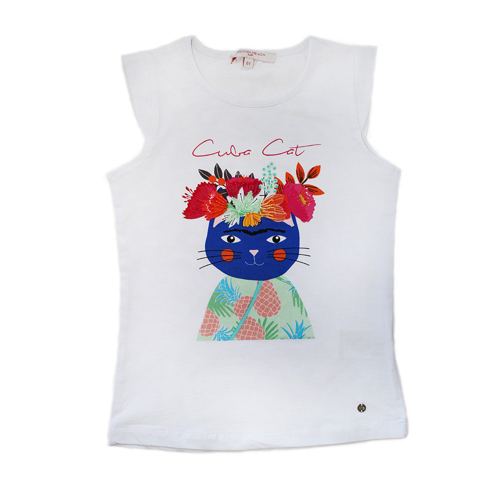 "HEACH DOLLS By SILVIAN HEACH - ""Cuba Cat"" Sleeveless Top"