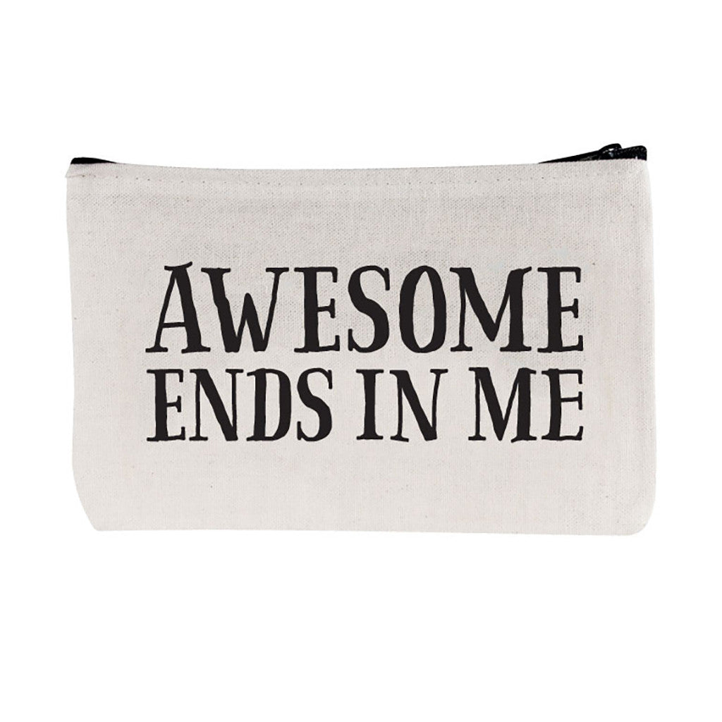 "TOWNE9 - ""Awesome Ends in Me"" Zip Pouch"