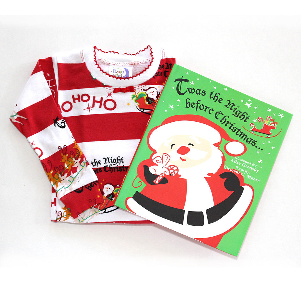 "BOOKS TO BED - ""Twas the Night Before Christmas"" Pajamas & Book Set"