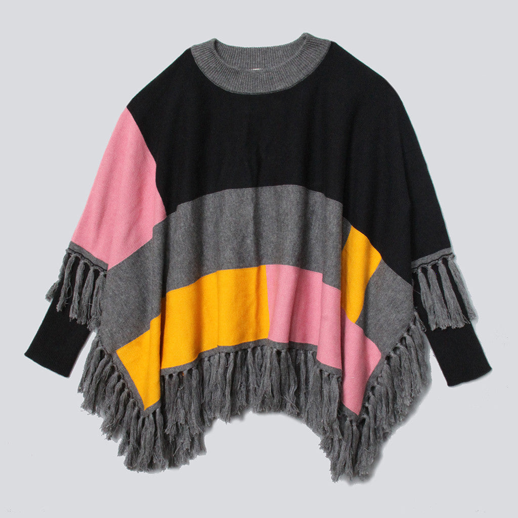 VIERRA ROSE - Annie Colorblock Poncho