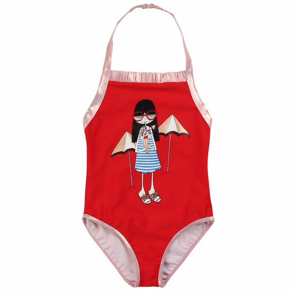 LITTLE MARC JACOBS - Miss Marc Illustration Swimsuit