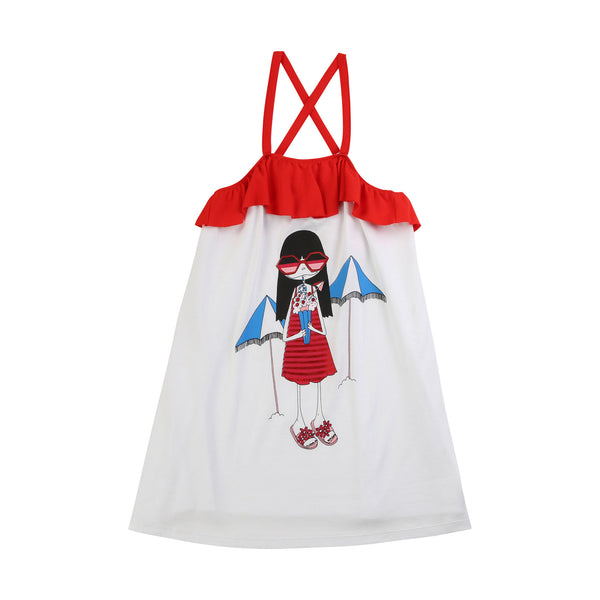 LITTLE MARC JACOBS - Miss Marc Illustration Dress
