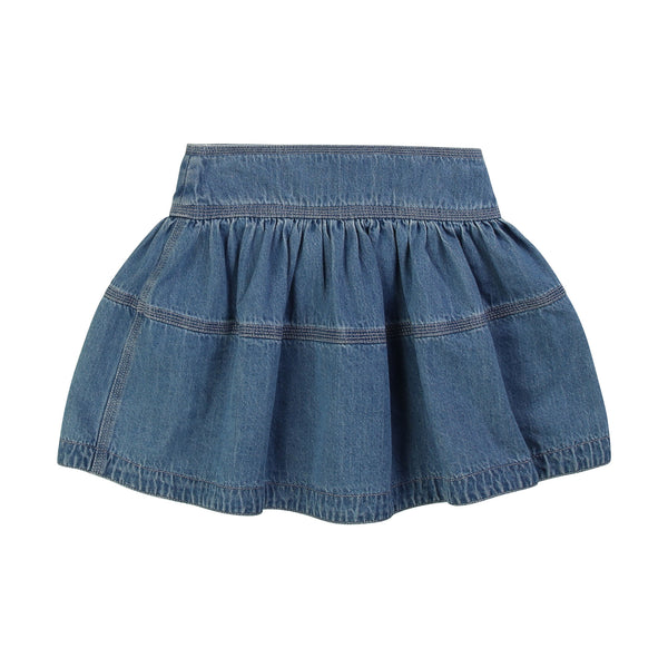 LITTLE MARC JACOBS - Flared Denim Mini Skirt