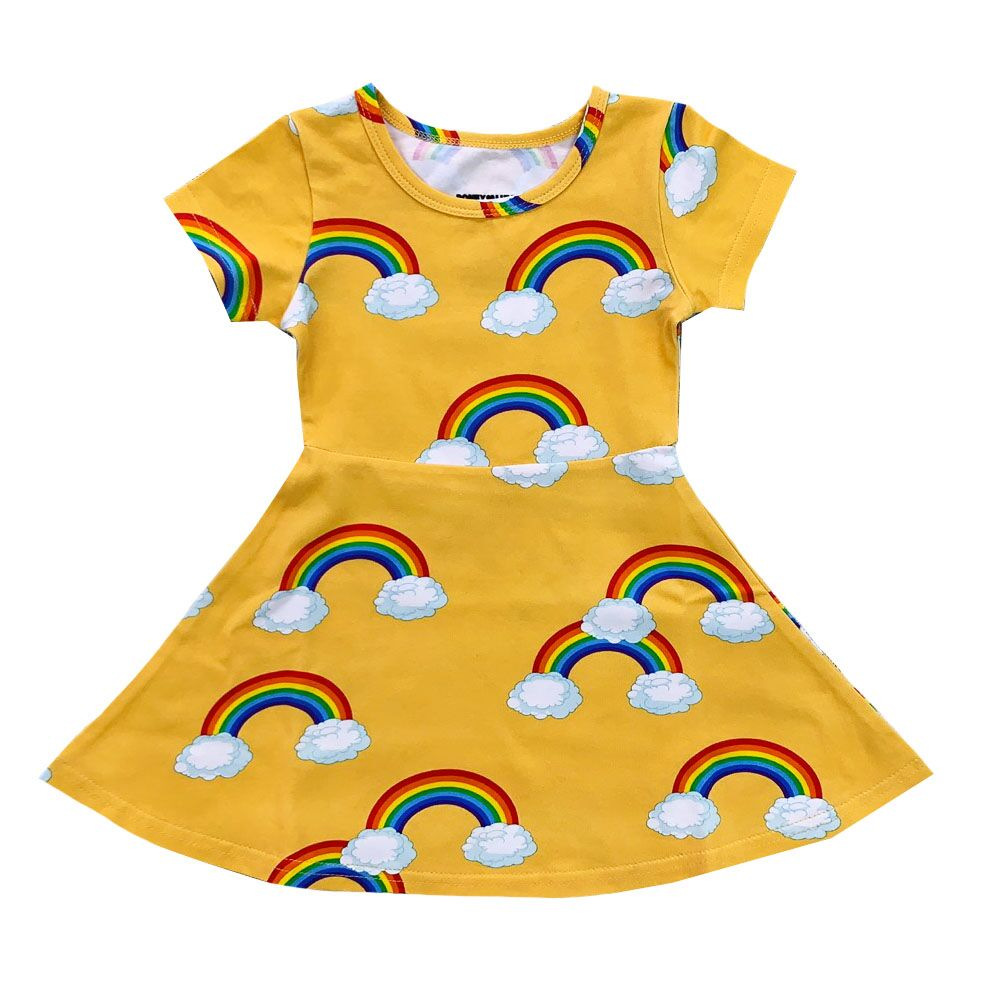 "ROMEY LOVES LULU - ""Yellow Rainbows"" Skater Dress"