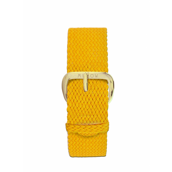 MILLOW PARIS - Braided Yellow Strap - Yellow Gold Buckle