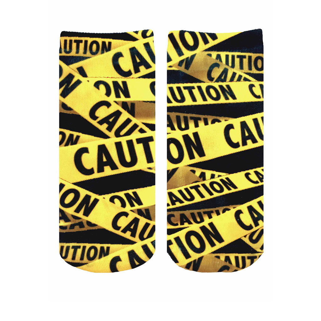 "LIVING ROYAL - ""Caution"" Ankle Socks"