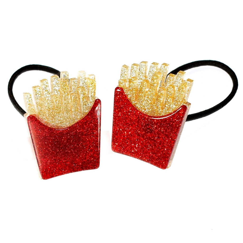 "LILIES & ROSES NY - ""French Fries"" Acrylic Ponytail Holders"