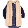 CARREMENT BEAU - Faux Fur Vest with Beaded Ornament