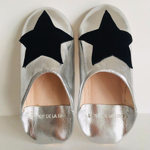 "LE TOIT DE LA LUNE - ""Rocky"" Leather Slippers"
