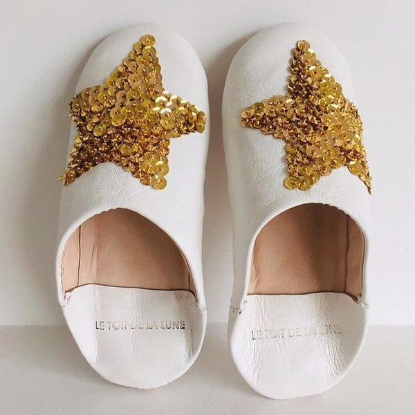 "LE TOIT DE LA LUNE - ""Star"" Leather Slippers"