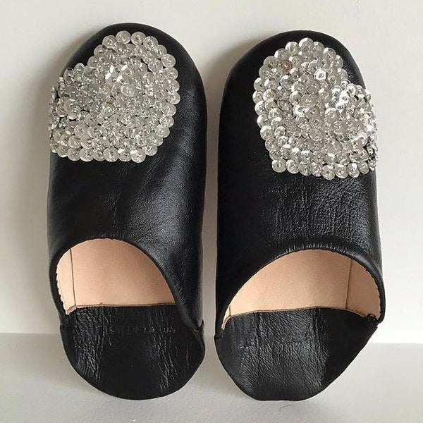 "LE TOIT DE LA LUNE - ""Love"" Leather Slippers"