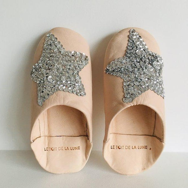 "LE TOIT DE LA LUNE - ""Grace"" Leather Slippers"