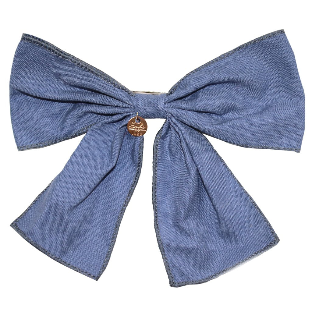 HALO LUXE - Ever After Bow Clip in Chambray