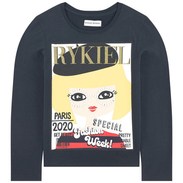 SONIA RYKIEL ENFANT - Icover Long Sleeve Magazine Cover Tee