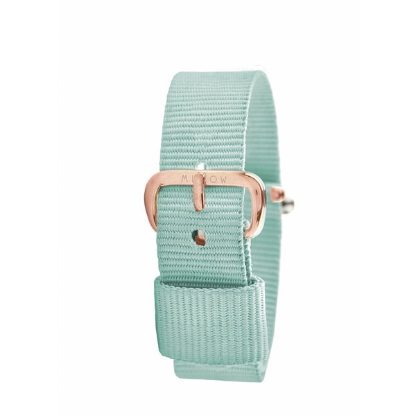 MILLOW PARIS - Fresh Mint Strap - Rose Gold Buckle
