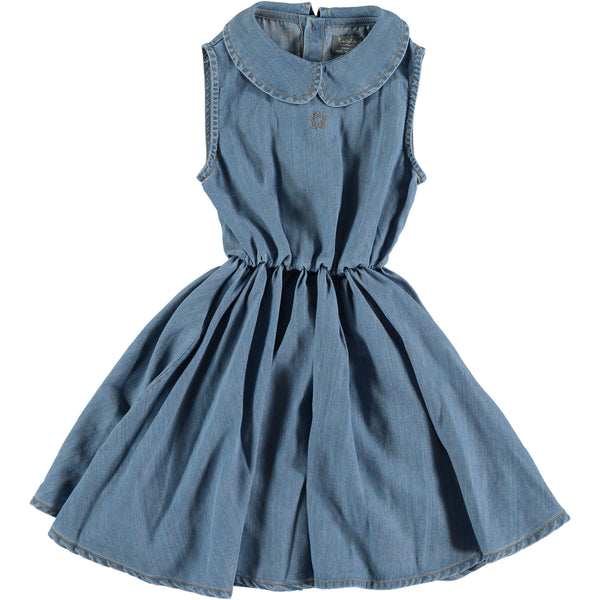 TOCOTO VINTAGE - Sleeveless Denim Short Dress
