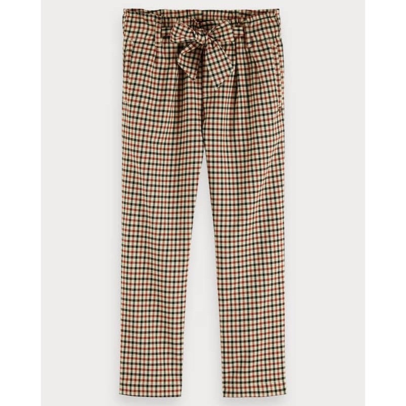 SCOTCH & SODA - Relaxed Slim Yarn Dyed Check Pants