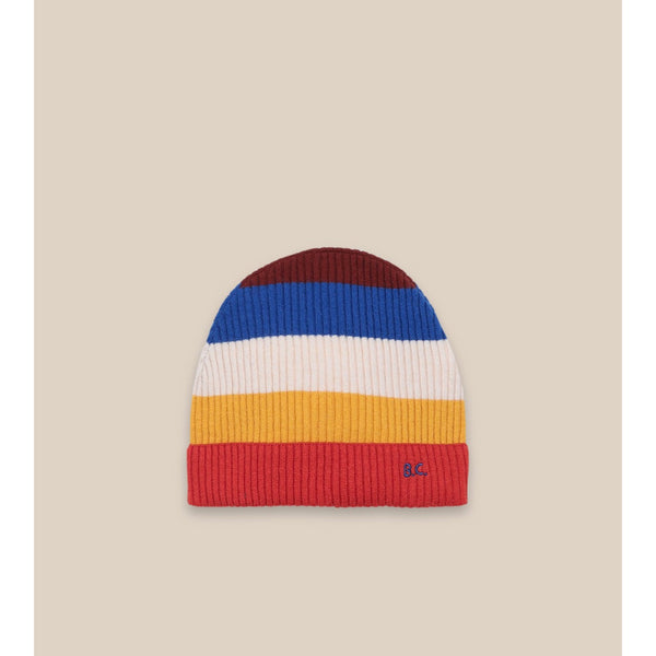 "BOBO CHOSES -""Catalogue of Marvelous Trades"" - Bobo Choses Multicolor Stripes Beanie"