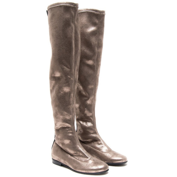 MONNALISA - Metallic Over the Knee Boots