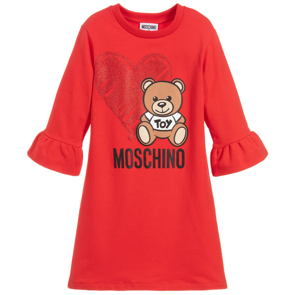 MOSCHINO - Dress with Heart Toy Bear