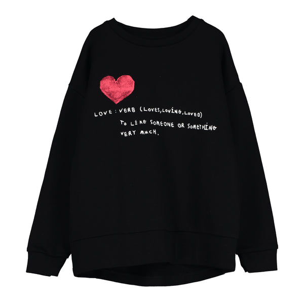 "BEAU LOVES - ""Love Verb"" Relaxed Fit Sweatshirt"
