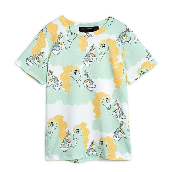 MINI RODINI - Unicorn Noodles AOP Tee