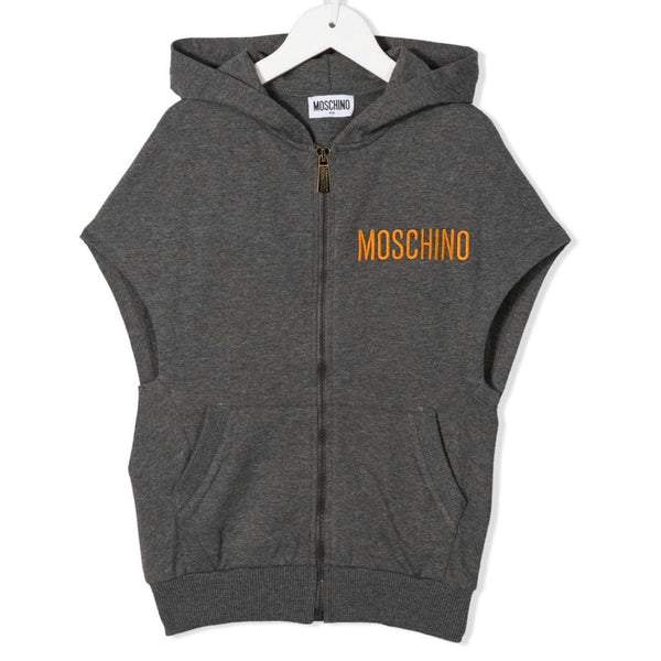 MOSCHINO - Sleeveless Teddy Bear Hoodie