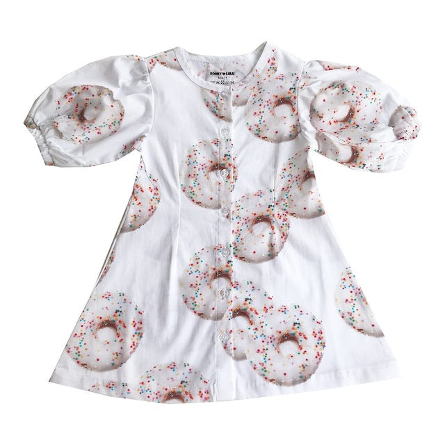 "ROMEY LOVES LULU - ""Donuts"" Puff Sleeve Dress"
