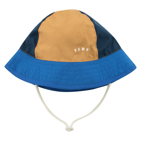 TINYCOTTONS - Tiny Colorblock Bucket Hat - INK BLUE/IRIS BLUE