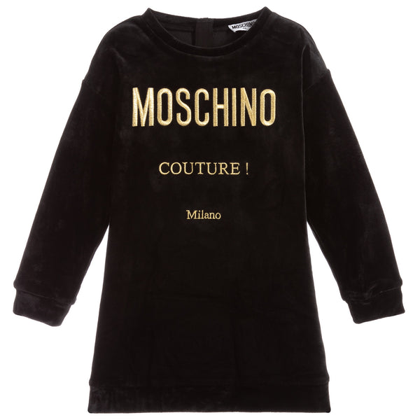 MOSCHINO - Chenille Dress with Couture Logo