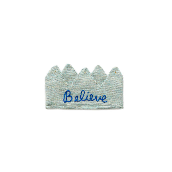 "Oeuf - Embroidered ""Believe"" Crown"