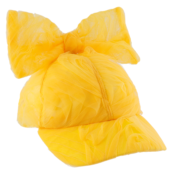 "CAROLINE BOSMANS - ""LIFE IS NOT BETTER IN PYJAMAS"" - Bow Cap - TULLE YELLOW"