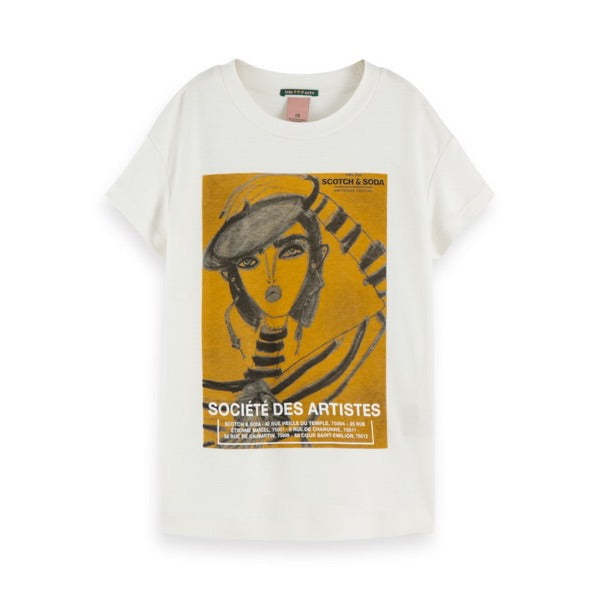 SCOTCH & SODA - Oversized Artwork T-Shirt - Blair Breitenstein