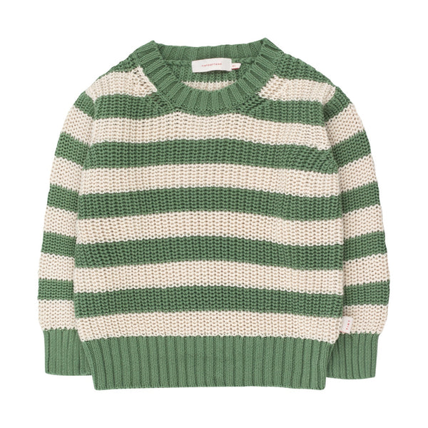 TINYCOTTONS - Stripes Sweater - GREEN
