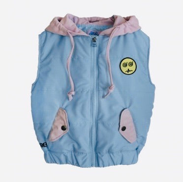 BANDY BUTTON - Stone Hooded Vest