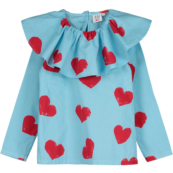BEAU LOVES - All Over Hearts Printed Top