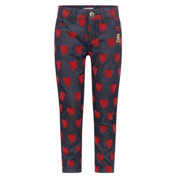 MOSCHINO - All Over Hearts Denim Pants