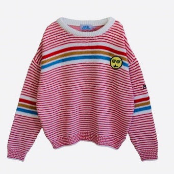 BANDY BUTTON - Hit Striped Sweater
