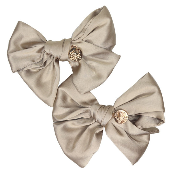 HALO LUXE - Serenity Silk Bow Double Clip