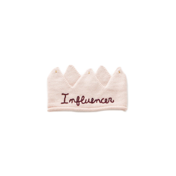"Oeuf - Embroidered ""Influencer"" Crown"