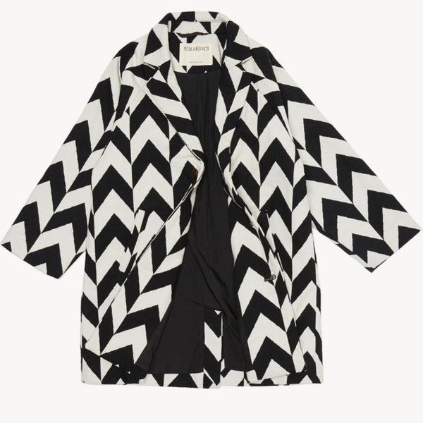 MILK & BISCUITS - Chevron Overcoat