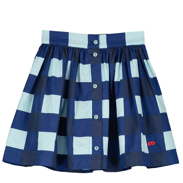 BEAU LOVES - Gingham Button Skirt